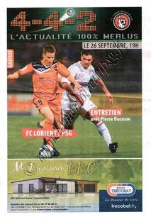 2009-09-26  Lorient-PSG (7ème L1, 4-4-2)