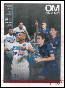 Programme  Marseille-PSG  2016-17