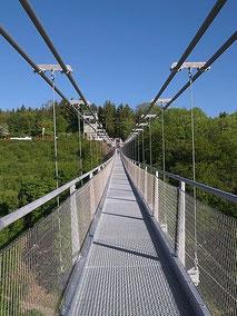 Titan RT, die längste Hängeseilbrücke Deutschlands an der Rappbodetalsperre im Harz