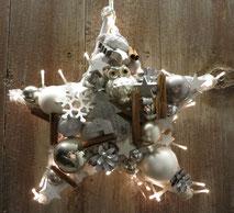Stern in weiß - grau