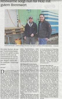 Kooperation Brennholz trocknen mit Biogas-Anlage