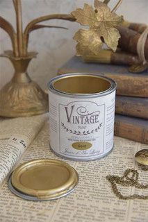 Peinture VINTAGE PAINT métallisée Or de Jeanne d'Arc Living