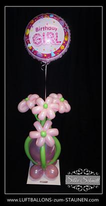 Birthday Girl Geschenkballon Blumen Bouquet Folienballon Kindergeburtstag Mädchen Party Dekoration Deko Geburtstag verschicken