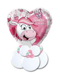 Ballon Luftballon Geldballon Gebinde Bouquet zur Geburt Baby Boy Girl Mädchen Junge Willkommen Hurra Einhorn Girlande Elefant rosa blau  Shower Geschenk Mitbringsel Versand verschicken Überraschung Arbeitskollegen sammeln Freunde