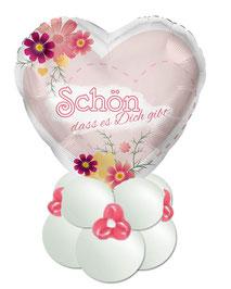 Ballon Folienballon Valentinstag Geschenkballon Muttertag alles Liebe Tochter Herz personalisiert Name Schön dass es Dich gibt