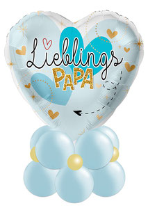 Ballon Luftballon Folienballon Heliumballon Geschenk Idee Vatertag Bester Papa Überraschung Mitbringsel Kinder Tochter Sohn Papa Vater Eltern Versand verschicken Ballonpost Ballongruß Gruß Box Ballonbox Deko Dekoration Feier Party Lieblingspapa