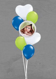 Luftballon Geschenk Ballon Fotoballon Foto Bouquet Strauß Herz Geburtstag Party Kindergeburtstag Deko Dekoration witzig verschicken personalisiert