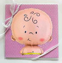 Glückwunschkarte Baby Geburt Mädchen rosa Grußkarte Karte