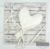Glückwunschkarte Herz Kommunion Firmung Jugendweihe Konfirmation  Hochzeit Geburtstag Herz Holz Baby Geburt Mädchen rosa Grußkarte Karte