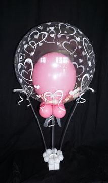 Heißluftballon Geschenkballon Geld Ballon Luftballon Geldballon Ballongeschenk Geschenk Hochzeit Hochzeitsherzen Herzen Geschenkballon Geldgeschenk Polterabend Arbeitskollegen Firma Freunde Blickfang Blume Trauung Feier Dekoration