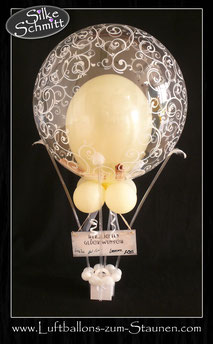 Heißluftballon Geld Geschenkballon Ballon Luftballon Geldballon Ballongeschenk Geschenk Hochzeit Hochzeitsherzen Herzen Geschenkballon Geldgeschenk Polterabend Arbeitskollegen Firma Freunde Blickfang Blume Trauung Feier Dekoration