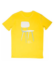 Men's T-shirt with Silkscreen Print of Ahrend Revolt Chair designed by Friso Kramer