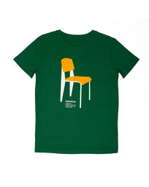 Men's T-shirt with Silkscreen Print of Vitra Chair Standard No. 4 designed by Jean Prouve