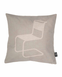 Cushion Cover with Print of Thonet Chair S33 designed by Mart Stam