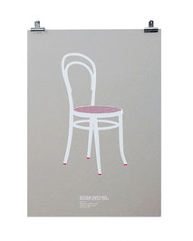 Silkscreen Print of Thonet Chair 14 designed by Gebruder Thonet
