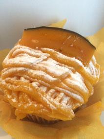 東京でみつけたチェーンのケーキ屋のパンプキン・モンブラン