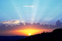 Sonnenuntergang über der Waid