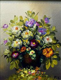 Cuadros al óleo de flores