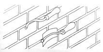 costipazione dei giunti con ferro sagomato