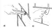 asportazione della malta con ferro a unghia e stuccatura con malta grassa