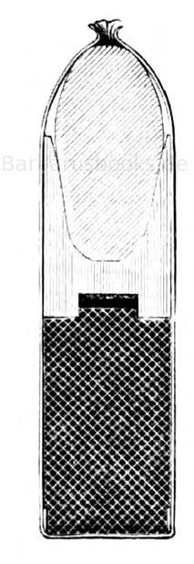 Zündnadel-Papierpatrone vor der Aptierung
