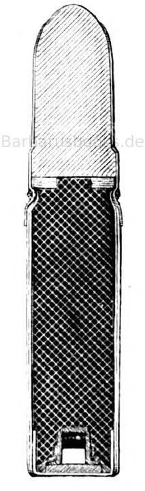 Papierpatrone zum französischen Chassepot-Gewehr