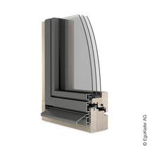 Holz Aluminium-Fenster EgoSelection flächenbündig