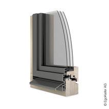 Holz Aluminium-Fenster EgoSelection flächenversetzt