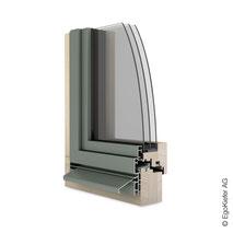 Holz Aluminium-Fenster EgoAllstar flächenversetzt