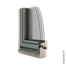 Holz Aluminium-Fenster EgoAllstar flächenbündig