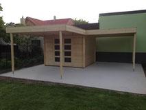Gartenhausfundament: Betonplatte