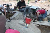 fouilles sur le G2 bis - bois de Fourgon Avrillé