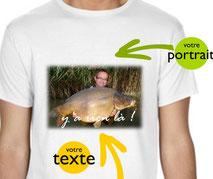 teeshirt personnalisé carpe