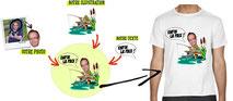 tee shirt avec photo pêche
