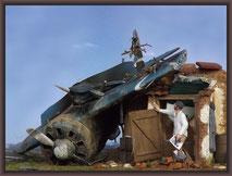 Azur Polikarpov I-16 Type 10, Wreck Diorama 1/32