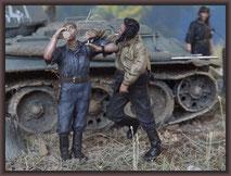 T-34/76 OT34 & ZiS-5V BZ , Diorama 1/35