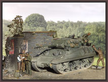 Achilles British Tank Destroyer , Diorama 1/35