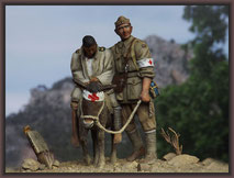 Simpson and his donkey, 54mm Figure Conversion
