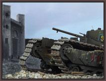 Churchill Mk.III Dieppe Raid Ver. , Diorama 1/35