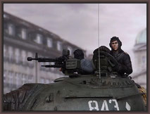 T-54 Tank, Diorama 1:35, Budapest 1956