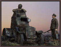 Polish Armored Car Wz.34, Diorama 1:35