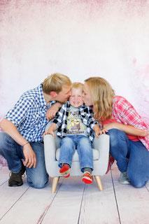 Studiofoto Familie