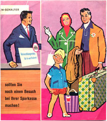 Prospekt (Reiseservice der Sparkasse) um 1960.