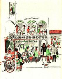 Elegantes Einkaufen 1959. von Hausfrauen
