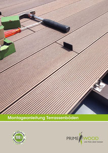 Terrassenböden Montage WPC Holzimitat