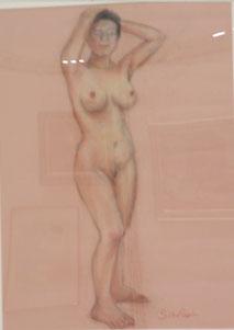 裸婦 パステル 12号