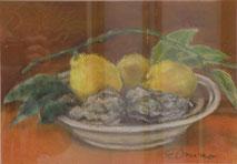 檸檬と牡蠣  パステル6号
