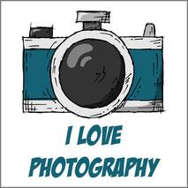 Maglietta personalizzata con stampa I love photograhy