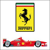 Grafica personalizzata per stampa maglietta tema Ferrari
