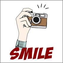 SMILE grafica personalizzata per stampa maglietta